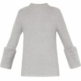 Ted Baker Klairia Sheepskin Trim Jumper