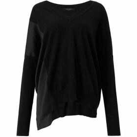 All Saints Alda Panel V-Neck Jumper