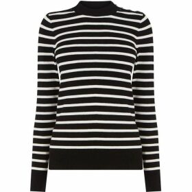 Warehouse Breton Stripe Button Jumper