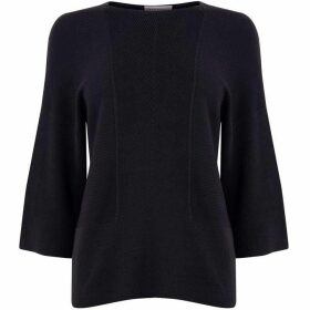 Warehouse Rib Panel Crop Sleeve Jumper