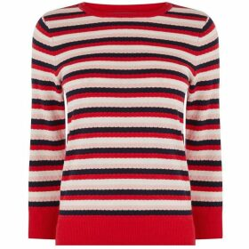 Oasis Textured Stripe Jumper