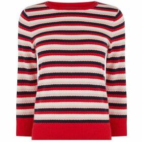 Oasis Textured Stripe Jumper
