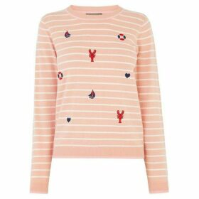 Oasis Ahoy Embroidered Jumper