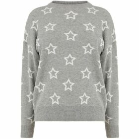 Warehouse Star Jacquard Jumper