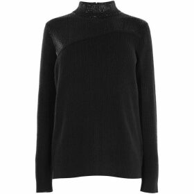 Karen Millen Sequin Neck Jumper