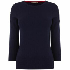 Oasis Lynn Button Shoulder Jumper