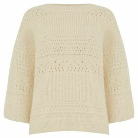 Warehouse Textured Stitch Boxy Jumper