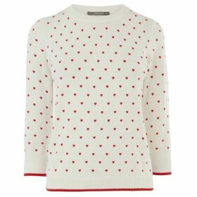 Oasis Lorna Love Hearts Jumper