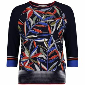 Betty Barclay Fern Print Jumper
