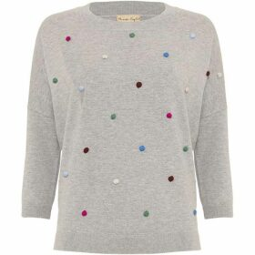 Phase Eight Finley Embroidered Spot Knit Jumper