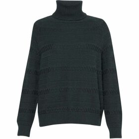 Great Plains Multi Texture Roll Neck Jumper