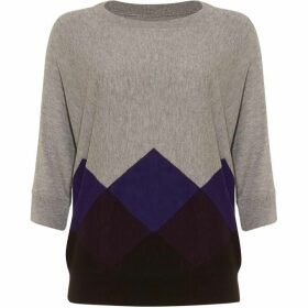 Phase Eight Angeletta Argyle Knitted Jumper
