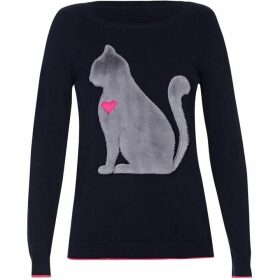 Yumi Faux Fur Cat Jumper