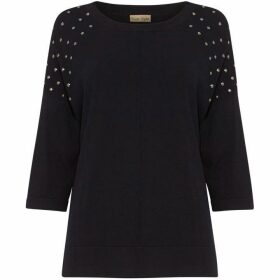Phase Eight Sarah Stud Shoulder Knit Jumper