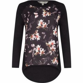 Yumi Woven Floral Panel Jumper