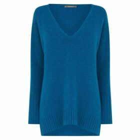 Oasis Sally V Neck Oversized Jumper