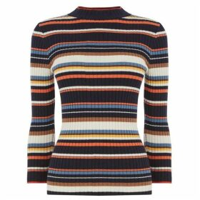 Warehouse Multi Stripe Rib Jumper