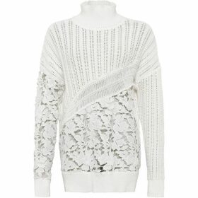 French Connection Patchwork Mozart High Neck Jumper