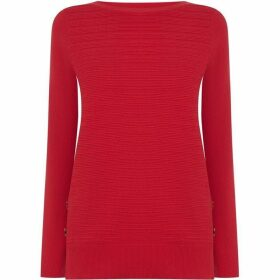 Oasis `Evie` ottoman stripe jumper