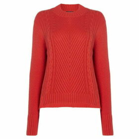 Therapy London Lola High Neck Cable Stepped Hem Jumper
