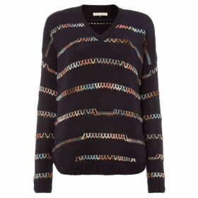 Maison De Nimes Cotton stitch detail knit jumper