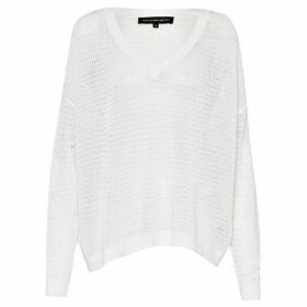 French Connection Roman Stripe Pointelle Jumper