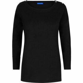 Winser London Merino, Silk & Cashmere Bardot Jumper