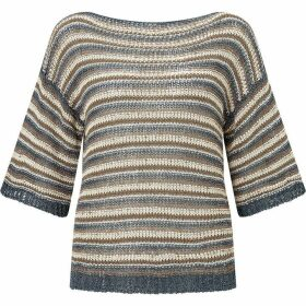 James Lakeland Lurex Stripe Knit Jumper