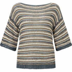 James Lakeland Lurex Stripe Knit Jumper
