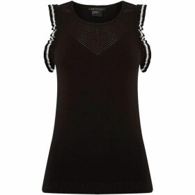Armani Exchange Sleeveless Jumper in Black