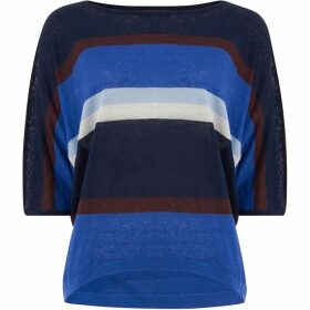 Phase Eight Sarah Stripe Linen Knitted Jumper
