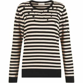 Havren Emmie Stripe and Spot Detail Jumper