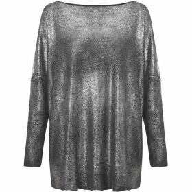James Lakeland Spray Lurex Loose Knit Jumper