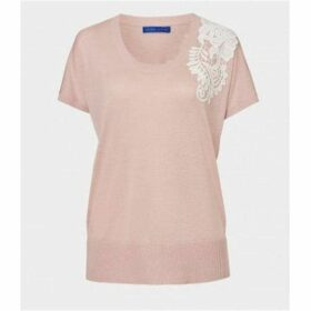 Winser London Silk Cotton Jumper With Guipure Lace