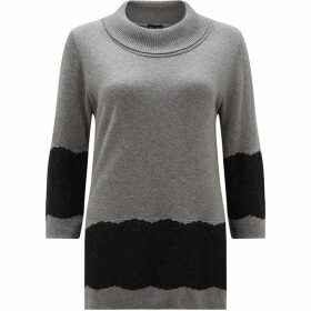 James Lakeland Lace Hem Jumper