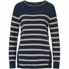 Betty Barclay Striped jumper with button trim
