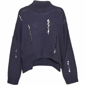 French Connection Nixo Knit Distressed High Neck Jumper