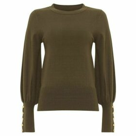 Damsel in a Dress Peyton Button Sleeve Knitted Jumper