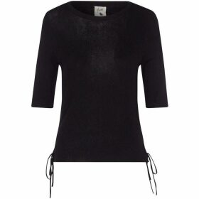 Yumi Tie Fastened Ribbed jumper