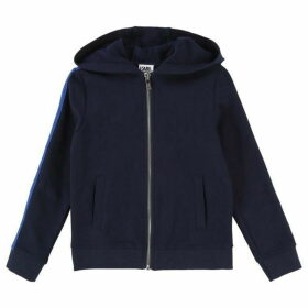 Karl Lagerfeld Boy Navy Hooded Cardigan