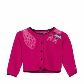Catimini Peony Pink Jacquard Knit Cardigan