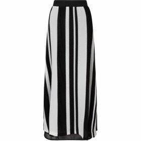 James Lakeland Stripey Lace Maxi Skirt