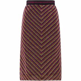 Sofie Schnoor Lurex stripe skirt