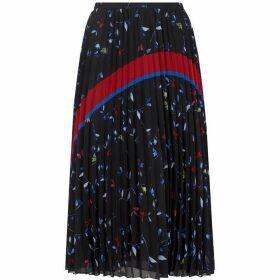 Mint Velvet Harlow Print Pleated Skirt
