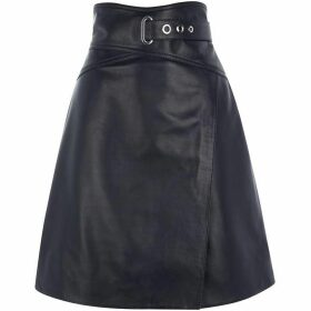 Karen Millen High-Waisted Leather Skirt