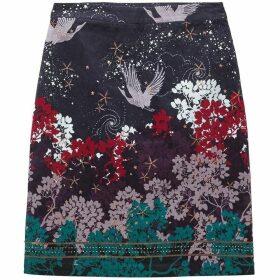 White Stuff Cosmic Velvet Skirt