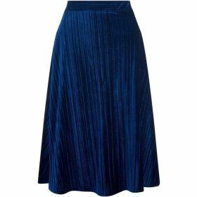 Havren Annette Crushed Velvet Skirt