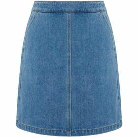 Warehouse A-Line Mini Denim Skirt