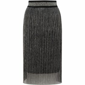James Lakeland Metallic Pleated Skirt
