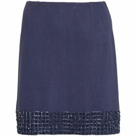 French Connection Crystal Shot Embellished Mini Skirt